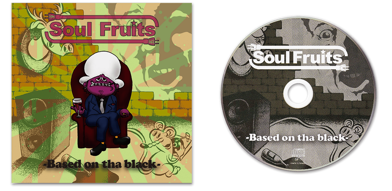 CD cover Design for SOUL FRUITS/Art Direction & Design
